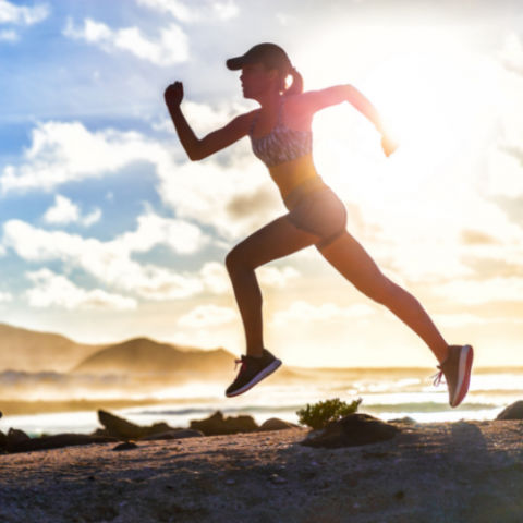 Femme course à pied